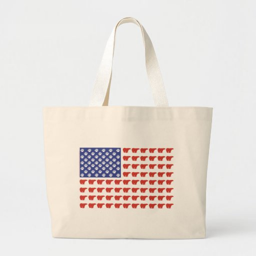 Polar-Bear-Flag[1] Canvas Bags