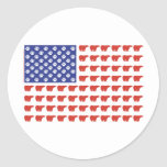 Polar-Bear-Flag[1] Classic Round Sticker