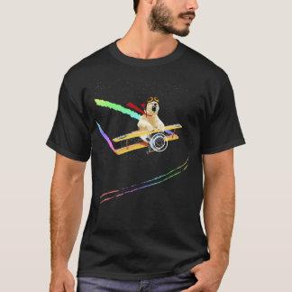Polar bear flying biplane T-Shirt