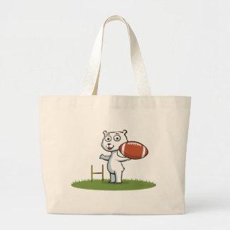 Polar Bear Football Tote Bag