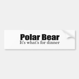 Polar Bear for dinner Bumper Sticker