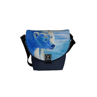 Polar Bear Global Warning Messenger Bags
