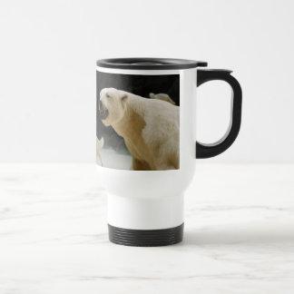 Polar Bear Grin 15 Oz Stainless Steel Travel Mug