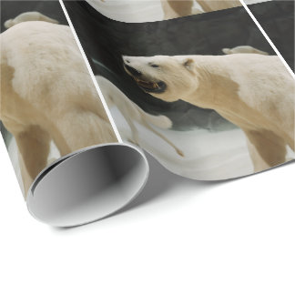 Polar Bear Grin Wrapping Paper