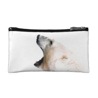 Polar bear growl makeup bags