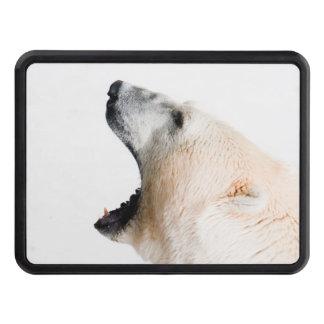 Polar bear growl trailer hitch cover