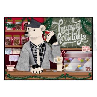 Polar Bear Happy Holidays Card