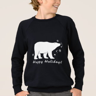 Polar Bear Happy Holidays Sweatshirt
