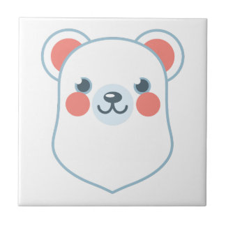 Polar Bear Head Ceramic Tile