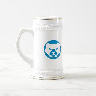 Polar Bear Head Circle Retro Beer Stein