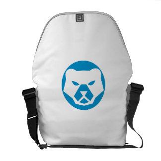 Polar Bear Head Circle Retro Courier Bags