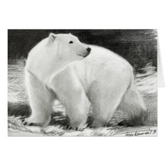 Polar Bear Holiday Customizable Card