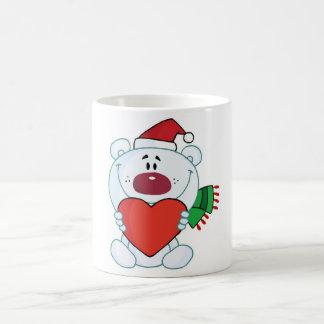 Polar Bear Holiday Love Classic White Coffee Mug