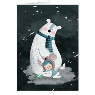 Polar Bear Hug Card