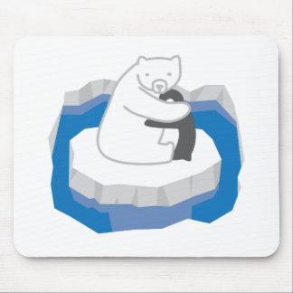 Polar Bear Hug Mouse Pad