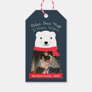 Polar Bear Hugs and Warm Wishes Photo Pack Of Gift Tags