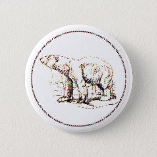 Polar Bear I 2 Inch Round Button