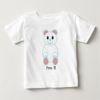 Polar Bear I am One Birthday Baby T-Shirt
