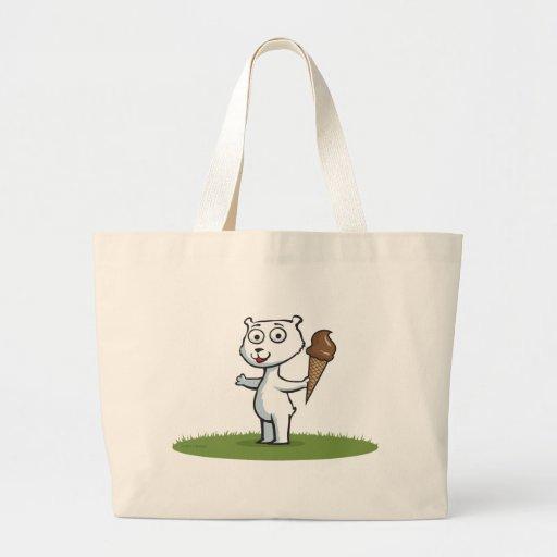 Polar Bear Ice Cream Canvas Bag
