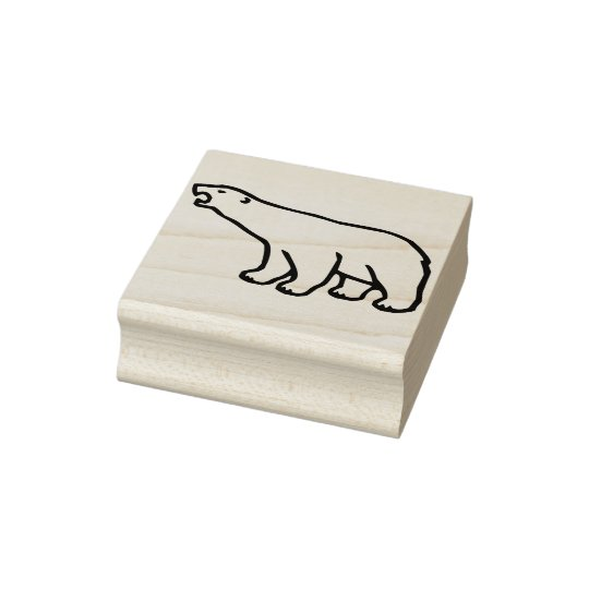 polar bear illustration art stamp