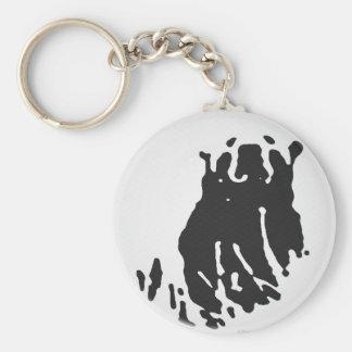 Polar Bear in Grey Basic Round Button Keychain