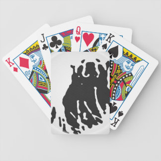 Polar Bear in Grey Bicycle Playing Cards