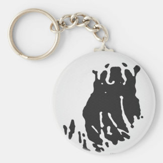 Polar Bear in Grey Keychain