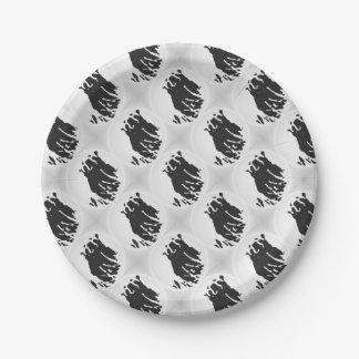 Polar Bear in Grey Paper Plate