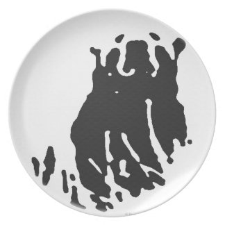 Polar Bear in Grey Plate
