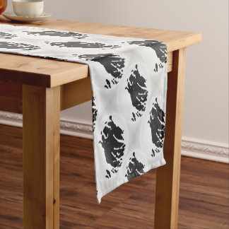 Polar Bear in Grey Short Table Runner