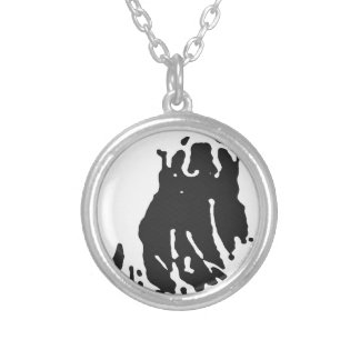 Polar Bear in Grey Silver Plated Necklace