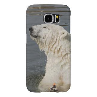 Polar bear in water samsung galaxy s6 case