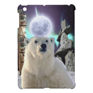 Polar Bear, Inukshuk & Totem Pole Arctic Animal Cover For The iPad Mini