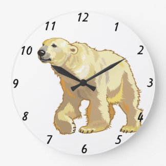 polar bear large clock