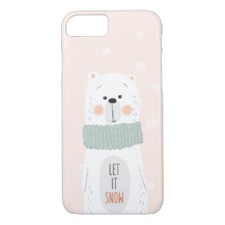 Polar bear - Let it snow - Cute Winter / Christmas iPhone 8/7 Case