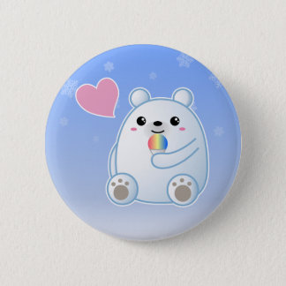 Polar Bear Love 2 Inch Round Button