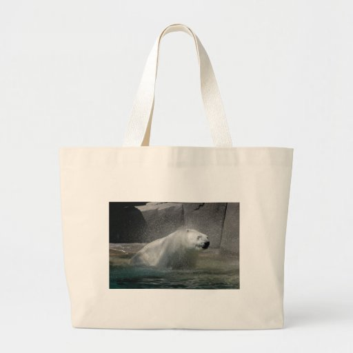 Polar Bear Love Canvas Bag