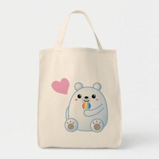 Polar Bear Love Grocery Tote Bag