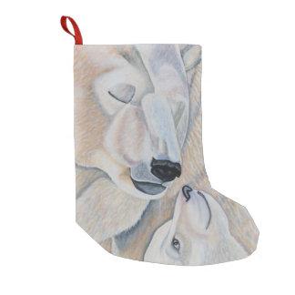 Polar Bear Love Small Christmas Stocking