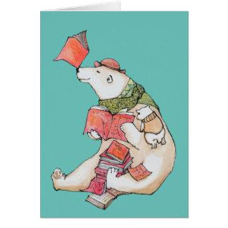 Polar Bear loves to read Greeting Card