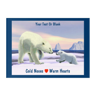 Polar Bear - Mama Nose Best Acrylic Wall Art