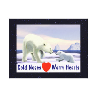Polar Bear - Mama Nose Best Stretched Canvas Prints
