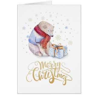 Polar Bear Merry Christmas Card