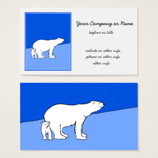 Polar Bear Mom and Cub Business Card