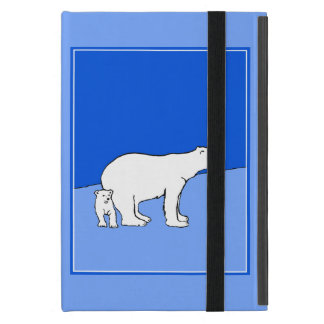 Polar Bear Mom and Cub Cover For iPad Mini