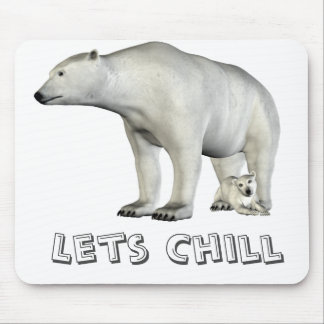Polar bear mom and cub mousepad
