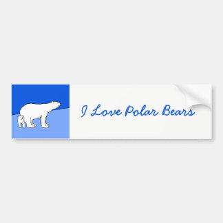 Polar Bear Mom and Cub Painting - Wildlife Art Bumper Sticker