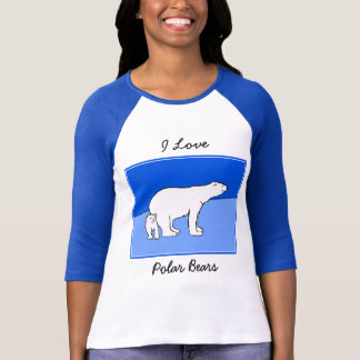 Polar Bear Mom and Cub Painting - Wildlife Art T-Shirt