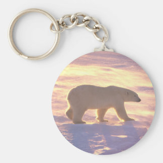 Polar Bear Morn 3 Basic Round Button Keychain