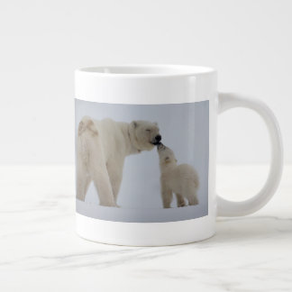 Polar Bear Mother with Cub Large Coffee Mug